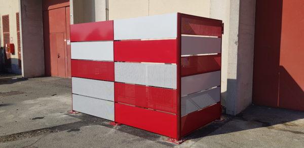 BOX RECINZIONE IN LAMIERA MICROFORATA